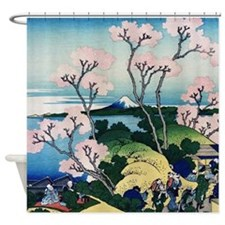 Hokusai Goten Yama Shower Curtain
