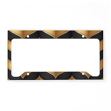 Black and Gold License Plate Holder