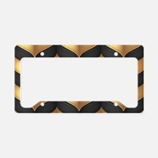 Black and Gold License Plate Holder