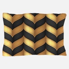 Black and Gold Pillow Case
