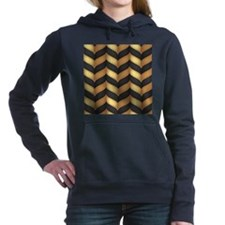 Black and Gold Women's Hooded Sweatshirt
