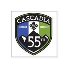 "55th Cascadia Square Sticker 3"" x 3"""