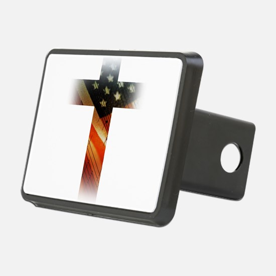 Flag in Cross Hitch Cover