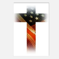 Flag in Cross Postcards (Package of 8)