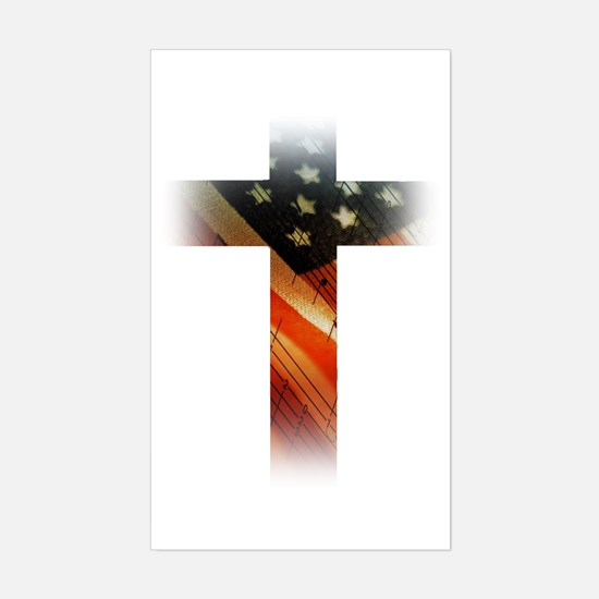 Flag in Cross Decal