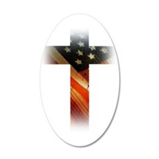 Flag in Cross Wall Decal