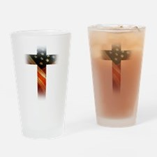 Flag in Cross Drinking Glass