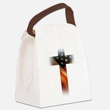 Flag in Cross Canvas Lunch Bag
