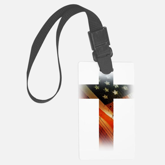 Flag in Cross Luggage Tag