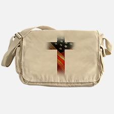 Flag in Cross Messenger Bag