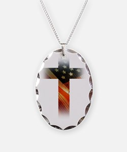 Flag in Cross Necklace