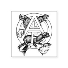 "Funny Animal liberation Square Sticker 3"" x 3"""