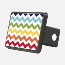 Classy rainbow chevron stripes Hitch Cover