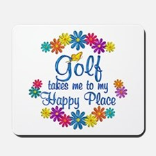 Golf Happy Place Mousepad