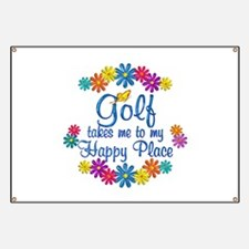 Golf Happy Place Banner