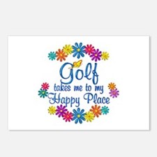 Golf Happy Place Postcards (Package of 8)