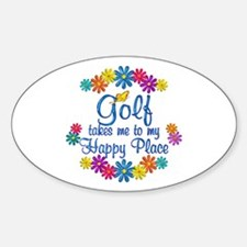 Golf Happy Place Decal