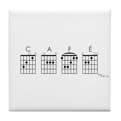 Café (guitar) Tile Coaster