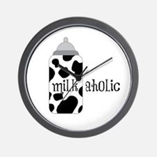 Milkaholic Wall Clock