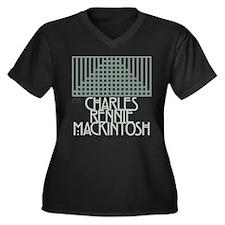 CRMackintosh Women's Plus Size V-Neck Dark T-Shirt