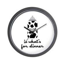 What's for Dinner Wall Clock