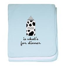 What's for Dinner baby blanket