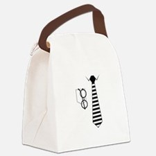 Shirt and Tie Canvas Lunch Bag