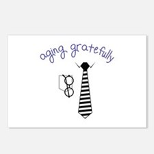 Aging Gratefully Postcards (Package of 8)