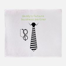 Daddy's Future Business Partner Throw Blanket