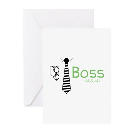 Boss Man Greeting Cards