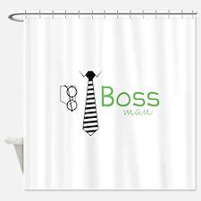 Boss Man Shower Curtain