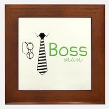 Boss Man Framed Tile