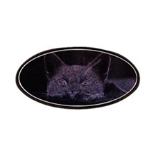 Black Cat Peeking Patches