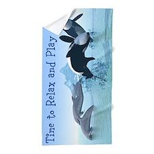 Dolphins and Orca's Beach Towel