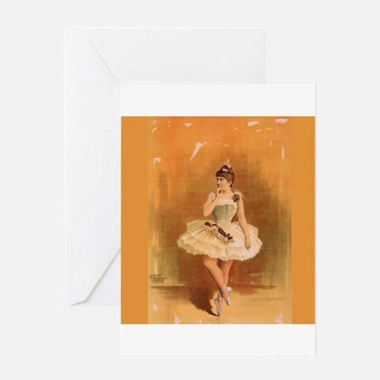 Ballerina Girl Greeting Cards