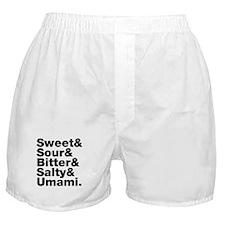 Five Basic Tastes Boxer Shorts