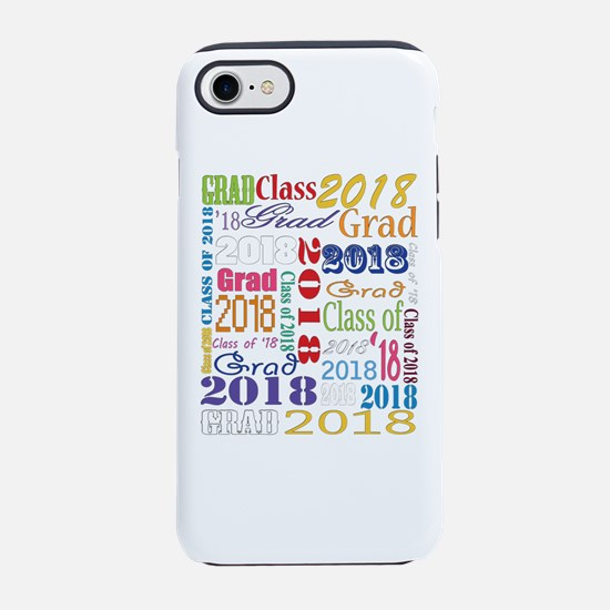 2018 Graduation Typography iPhone 7 Tough Case