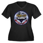 USS CORAL SE Women's Plus Size V-Neck Dark T-Shirt