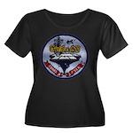 USS CORA Women's Plus Size Scoop Neck Dark T-Shirt