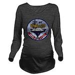 USS CORAL SEA Long Sleeve Maternity T-Shirt