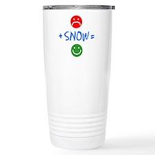 Plus Snow Equals Happy Travel Mug