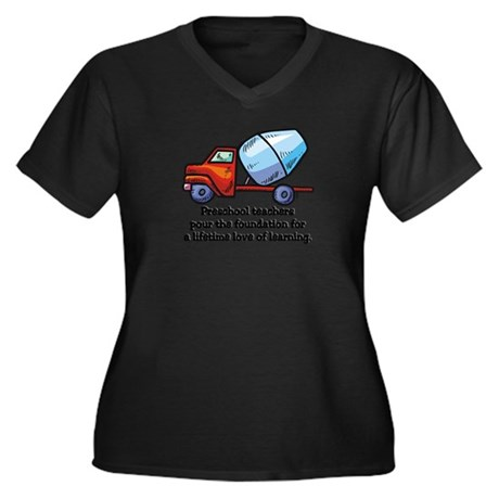 cement truck preschool Plus Size T-Shirt