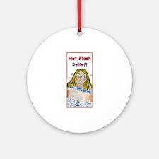 Hot Flash Ice Tub Ornament (Round)