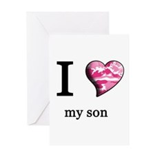 Valentine sons Greeting Card
