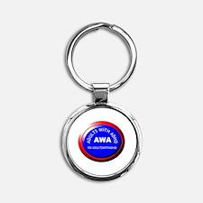 AWA Logo Round Keychain