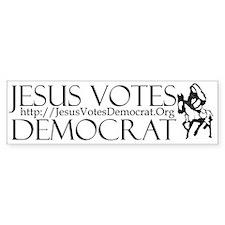 Jesus Votes Democrat BUmper Bumper Sticker