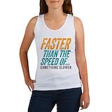 Funny running Women's Tank Tops
