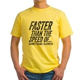 Funny running Mens Yellow T-shirts