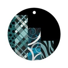 TEAL & BLACK Ornament (Round)