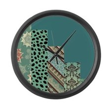SEAFOAM & TEAL Large Wall Clock